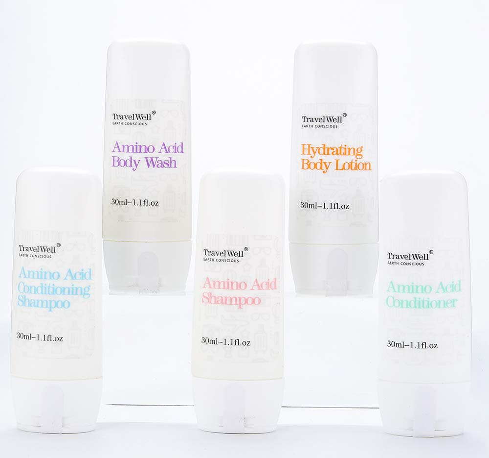 3c098313e41cb Amazon.com : TRAVELWELL Hotel Shampoo and Soap Bulk Individually Wrapped  30ml Shampoo & Conditioner 2 in 1, 50 Bottles + Round Tissue Pleated 28g  Cleaning ...