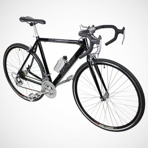 New 54cm Aluminum Road Bike Racing Bicycle 21 Speed Shimano - Black Color by Bicycles