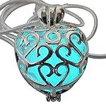 UMBRELLALABORATORY Wishing Heart Fairy Magical Fairy Glow in The Dark Necklace-Aqua-SIL 6