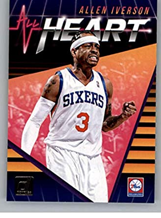 77082a13087 2018-19 Donruss All Heart Basketball Card #1 Allen Iverson Philadelphia  76ers Official NBA