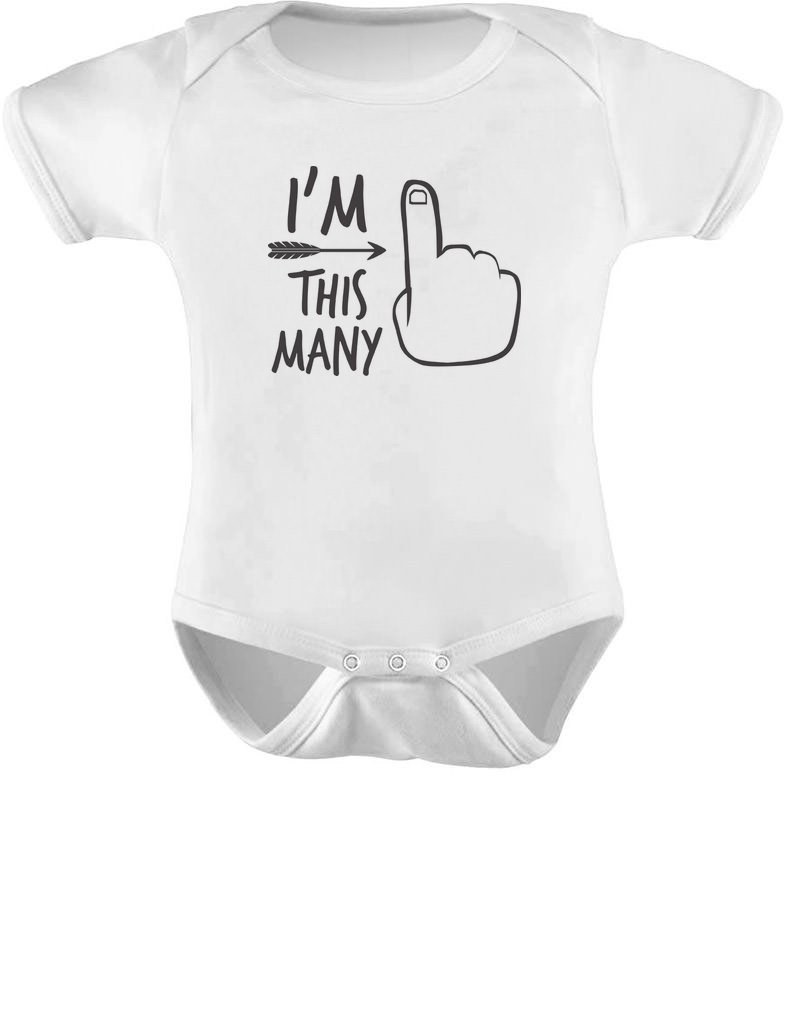 TeeStars – 1st Bday One Year Old First Birthday Gift Boy / Girl Baby Bodysuit