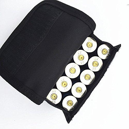20 Pouch Nylon Round (Molle Shotgun Pouch Bag - Molle Magazine Bag - Tactical 600D 10 Round Shotgun Shotshell Holder Pouch Bag for 12 Gauge/20G Magazine - Black (Shotshell Holder Pouch Bag))