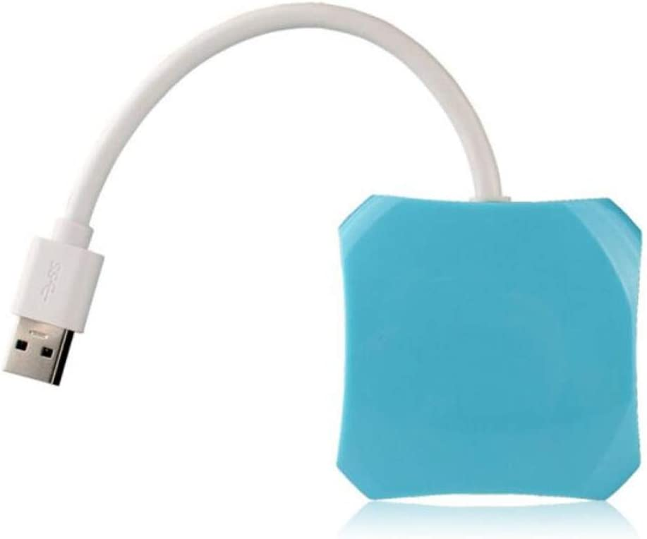 Four-Port USB HUB Hub High-Speed USB3.0 Blue Beautiful Appearance Color : Blue Wuhuizhenjingxiaobu Hub