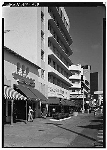 Photo: Lincoln Road Mall,Miami,Miami-Dade County,Florida,FL,HABS,United - Miami Map Lincoln Road