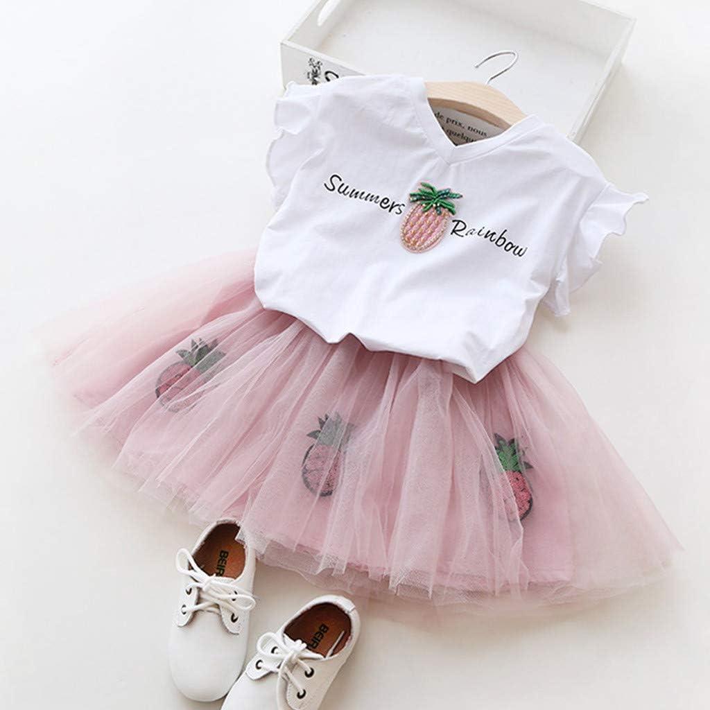 YUAN Baby M/ädchen Kleidung Set 2 St/ück Tops Rock T/üt/ü Pettiskirt Geburtstag Geschenk Outfits Verkleidung