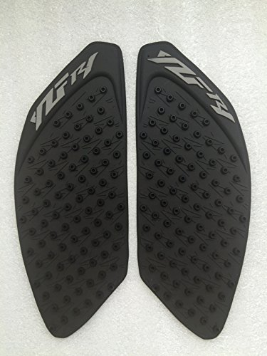 3D Black Dots Gas Fuel Tank Traction Pad Anti Side Slip Protector For YAMAHA YZF R1 09-11 ()