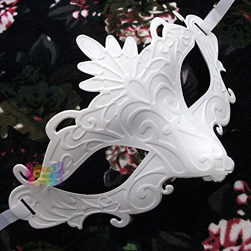 Costume The Halloween Purge Diy (Damjic Kindergarten Painting Blank Mask White Handmade Diy Child Mask Halloween Mask)