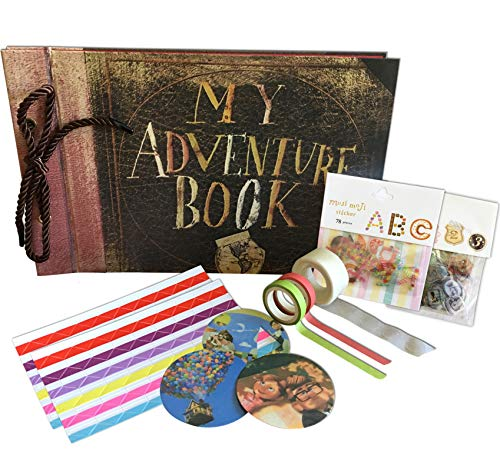 My Adventure Book - Up Movie DIY Scrapbook With Ink Pads, Rhinestones, Postcards, and More. Makes the Perfect Family, Anniversary or Child's Album