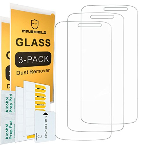 [3-Pack]-Mr.Shield for ZTE Majesty Pro 4G LTE [Tempered Glass] Screen Protector [Japan Glass with 9H Hardness] with Lifetime Replacement