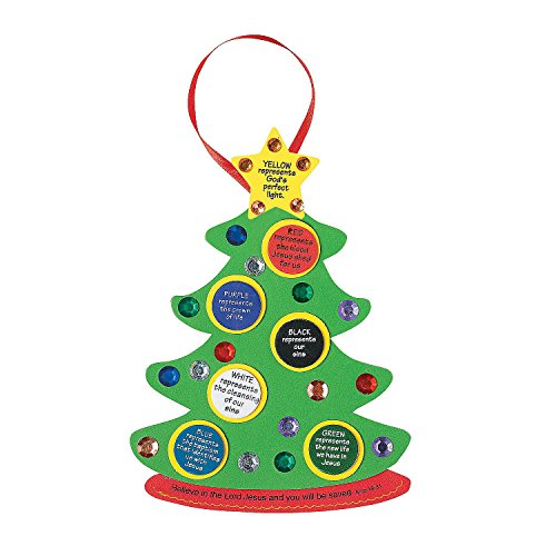 Colors of Faith Christmas Tree Craft Kit by Fun Express