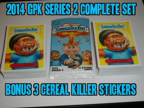 2014 Garbage Pail Kids Series2 Complete Set 132/132 + Wrapper + 3 Random Cereal Killer Stickers ()