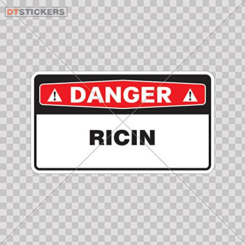 Stickers Safety Sign Ricin Color Print 3 X 1 7 Inch