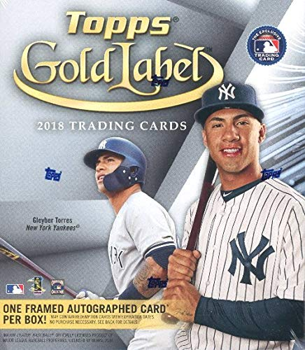 2018 Topps Gold Label Baseball Factory Sealed HOBBY Box with FRAMED AUTOGRAPH Card & 4 Parallels! Look for Rookies & Autographs of Juan Soto, Shohei Ohtani, Ronald Acuna & Many Many More! WOWZZER! ()
