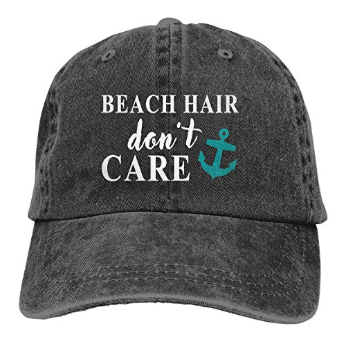 Waldeal Printed Adjustable Beach Dont Care Vintage Washed Baseball Cap Denim Dad Hat Sun Hat]()