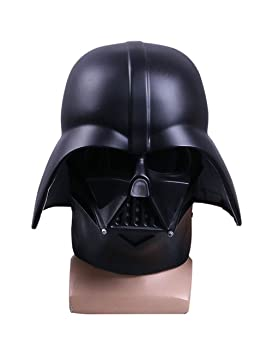 Kugga Máscara del Traje De Cosplay De Halloween Máscara De Star Wars Casco Guerrero Negro Darth