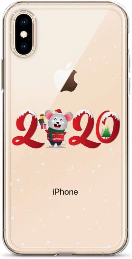 Compatible for iPhone XR Cases 2020 Happy New Year of The Rat Happiness Success Mouse Anti Bumps Scratches