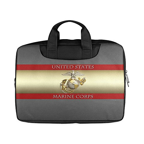 Laptop Notebook New Year Gifts/Thanksgiving Day USMC United States Marine Corps Handle Sleeve Bag Case Cover for 15 inches MacBook Pro(Twin Sides Printing)