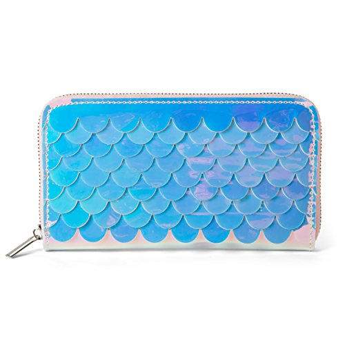 Tri-Coastal Design Mermaid Wallet Purse with Fun Textured Fish Scale Pattern Card Holder Organizer Clutch for Women and Girls by Tri-coastal Design