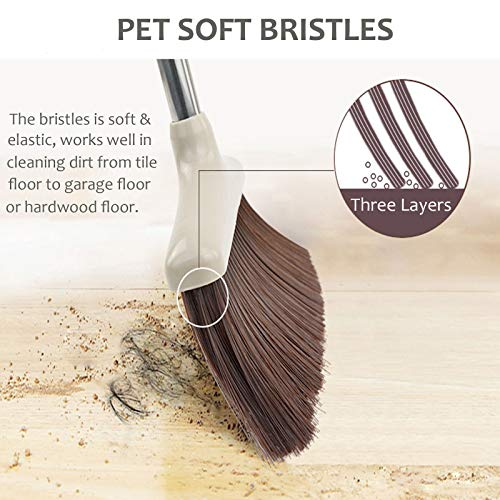 Broom and Dustpan Set, 48 inch Extendable Broom Standing Upright - Wind Proof - Foldable Sweep Set with Soft Bristles & Rubber Edge & Dust Pan with Teeth, Perfect for Kitchen, Garden, Office, etc. by SerBion (Image #4)'