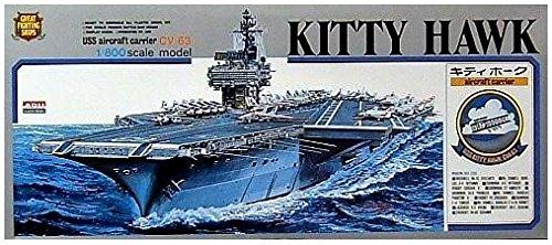Micro ACE(arii) 1/800 battleship & aircraft carrier series No.6 US Navy aircraft carrier USS Kitty Hawk plastic model