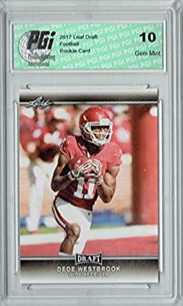 c8a036baf Amazon.com  Dede Westbrook 2017 Leaf Draft  24 Rookie Card PGI 10 ...