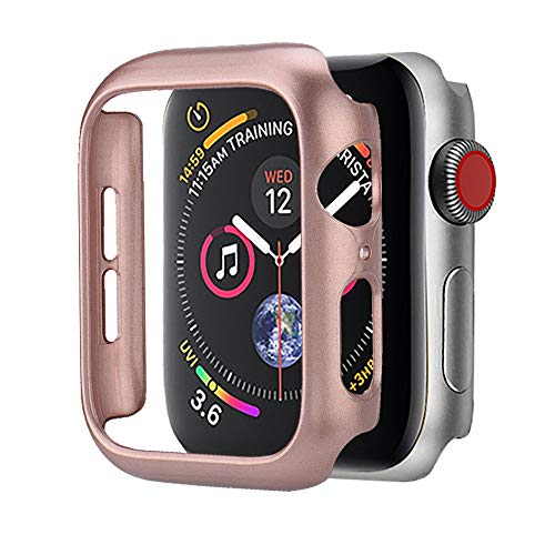 Compatible Apple Watch Series 4 Bumper 40mm 44mm Built-in Screen Protector iWatch Ultra Thin PC Spraying Case Protective Case Cover Bumper Compatible Apple Watch 4 Series 4 40mm 44mm (44mm, Rose Gold) by TLT Retail (Image #4)