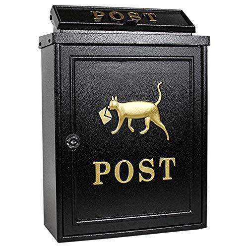 Hai Yan Boutique Mailbox E-Mail - Galvanized Sheet, European Pastoral Creative Outdoor Wall Lock Rainproof Mailbox, Suitable for Villas, courtyards (Color : ()
