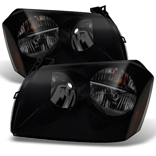 For Dodge Magnum OE Replacement Black SMoke Headlights Driver/Passenger Head Lamps Pair New (Dodge Magnum Headlight Headlamp)