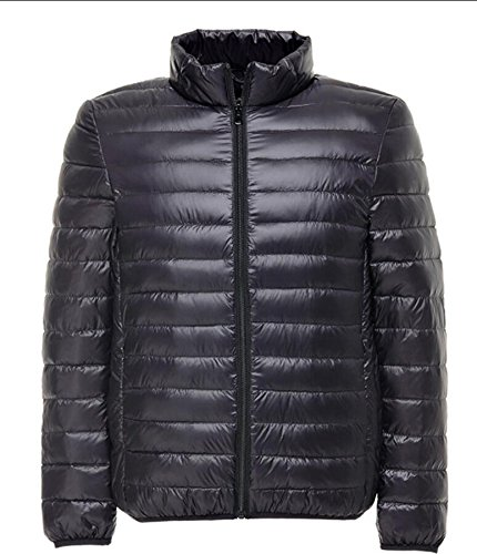 Puffer Basamento S M Outwear Collor Packable amp; Inverno amp; Nero W Cappotto Spessore Giù Uomini Leggero Gli pxBPq