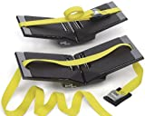 The Kayak Wing - Sea Kayak Rack with Yellow Straps for Boats Under 30'' Wide by Great Lakes Kayak LLC