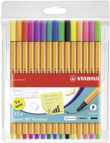 Stabilo Point 88 Wallet, 15-Color Set - 15-Color Wallet Set