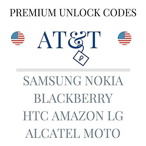 AT&T USA Premium Unlocking Codes for SAMSUNG NOKIA BLACKBERRY HTC AMAZON LG ALCATEL MOTO