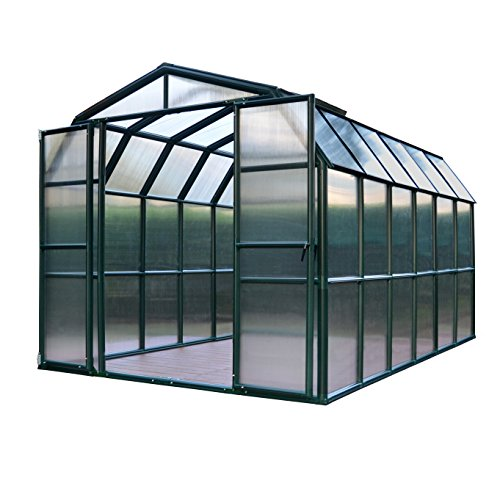 Timber House - Rion Grand Gardener 2 Twin Wall Greenhouse, 8' x 12'