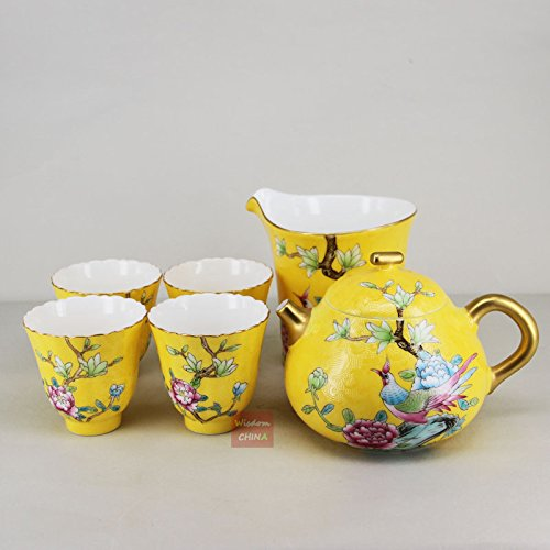 China Jingdezhen Pa Hua Famille-rose Porcelain Tea Pot Chahai cups Tea Set of ()