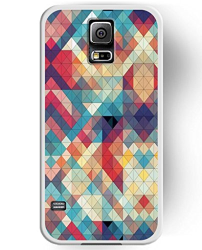 Perfect Fit Slim Cases for Samsung Galaxy S5, UKASE High Quality Hard Cover Case with Squares Geo Pattern