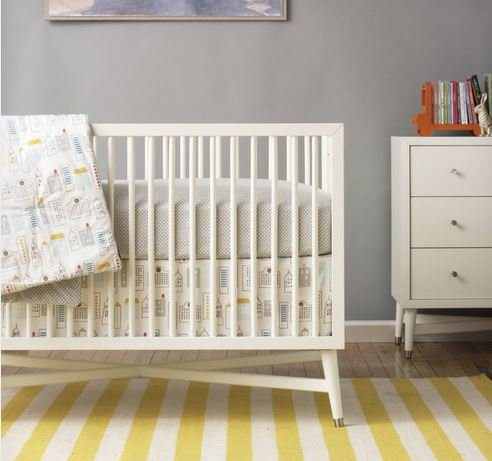 Amazon Com Dwellstudio Mid Century Crib French White Baby