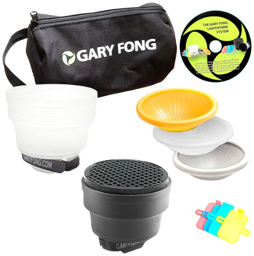 Gary Fong Fashion and Commercial Lighting Flash Modifying Kit (Black/White/Gray/Amber) by Gary Fong
