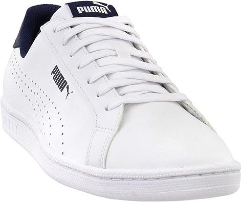 puma smash perforated trainers