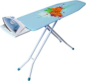 YBM HOME Ironing Board Cover and Pad - Adjustable Foldable 4-Leg Heavy Duty Board Assorted Prints