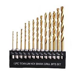 COMOWARE Titanium Twist Drill Bit Set - ...