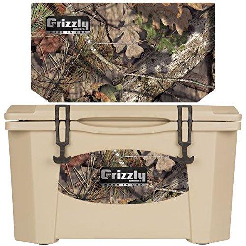 Grizzly Coolers - Tan - Mossy Oak - Breakup - 40 Quart