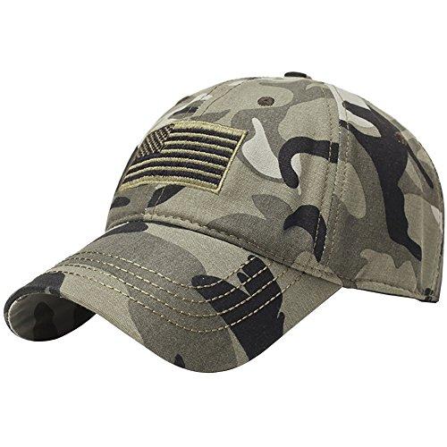 Aesy Sombrero de Camo Blue Sombrero Thin Sol Hat Beisbol Gorra Line Bandera Memorial de de USA Americana ratwr5q