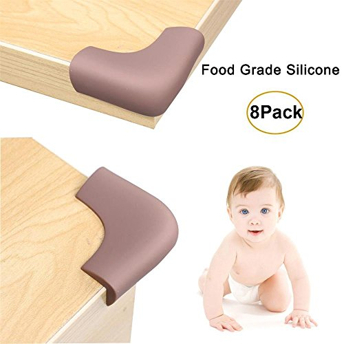 Corner Protectors and Edge Guards Baby Proof Corner Covers and Bumpers Cushion Food Grade Silicone Non-Choking Risk Chewing Safe with Strong Stickiness from LONGFITE