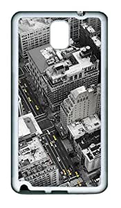 Samsung Galaxy Note 3 N9000 Case and Cover -New York city streets TPU Silicone Rubber Case Cover for Samsung Galaxy Note 3 N9000šC White