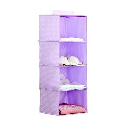 ERRU- caja de almacenamiento de tela, bolsa de almacenamiento Armario, que cuelga la