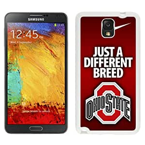 Fashionable And Unique Custom Designed With Ncaa Big Ten Conference Football Ohio State Buckeyes 5 Protective Cell Phone Hardshell Cover Case For Samsung Galaxy Note 3 N900A N900V N900P N900T White