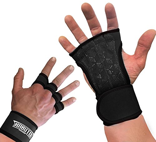 Kabuto Weightlifting and Cross Gloves With Wrist Wraps for sale  Delivered anywhere in USA