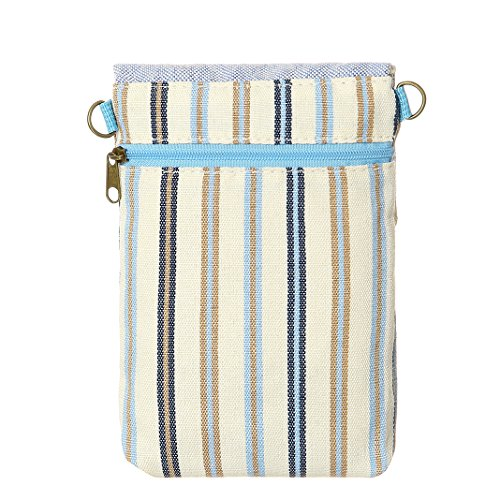 Wallet Bags Phone Girls Cell Purse Crossbody Small Colorful Blue4 For Purse Teen Women Canvas qEzgxTzA