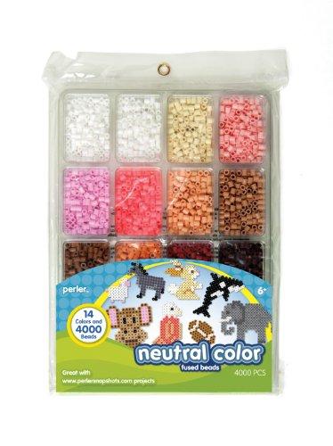 Perler Fused Bead Tray 4000/Pkg-Neutral Color