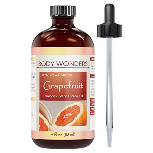 - Body Wonders Grapefruit Essential Oil * 4 Oz. Bottle * 100% Pure, Undiluted Therapeutic Grade Oils * Ideal for Aromatherapy & Diffusers * Great Quality Great Value!